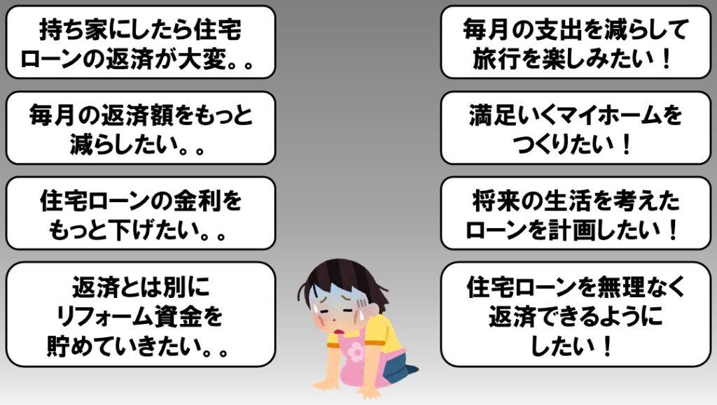 愛媛で住宅資金住宅ローンの相談見直しなら家計屋本舗にすることを知らないで困っている女性