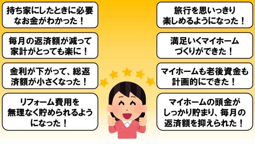 愛媛で住宅資金住宅ローンの相談見直しなら家計屋本舗にお任せした人の喜びの声